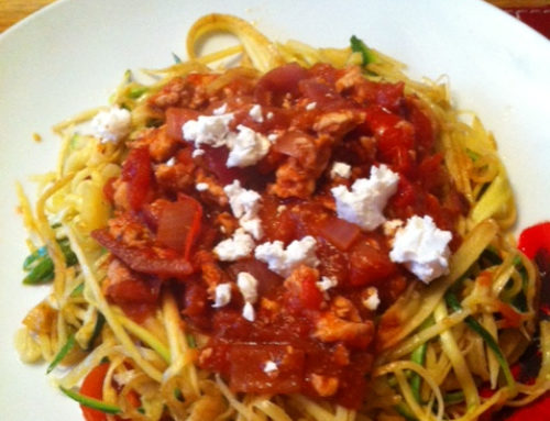 Parsnip and turkey mince Spaghetti Bolognese