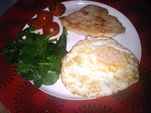 Fat loss fried breakfast!