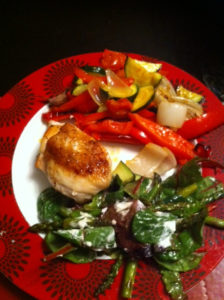 Pep up:  Quick and easy chicken and med veg