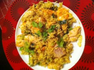 RICE SURPRISE: Cauliflower paella
